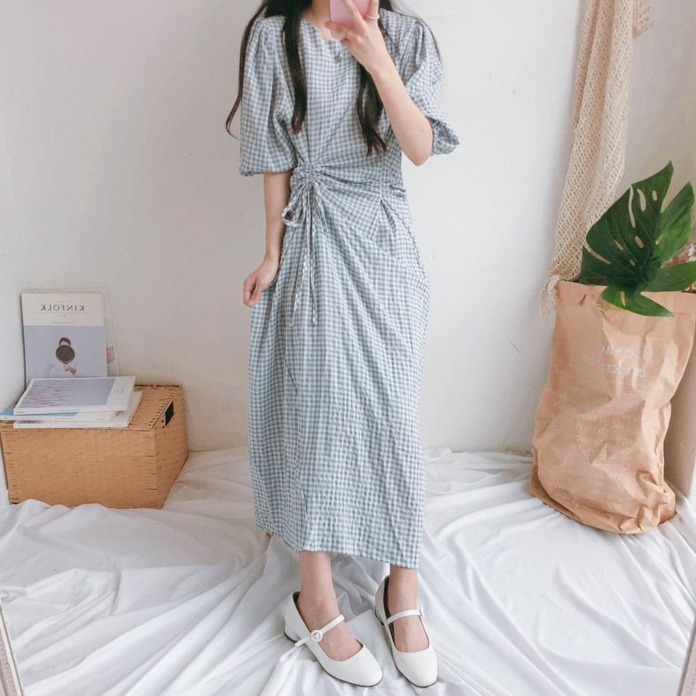 Heli Waistering Long Dress