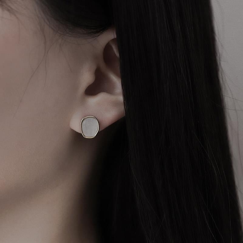 0057 colorful stone 3set earrings