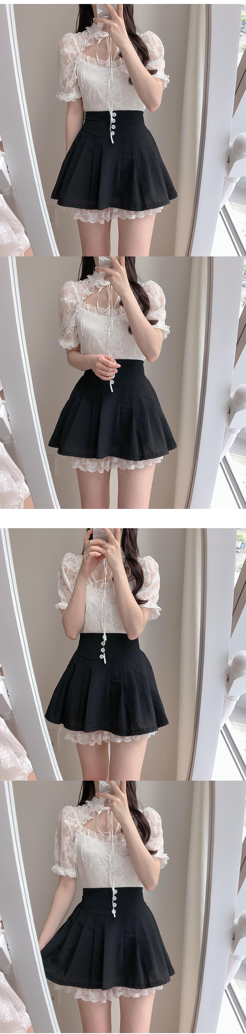 ♥ cobalt button skirt pants