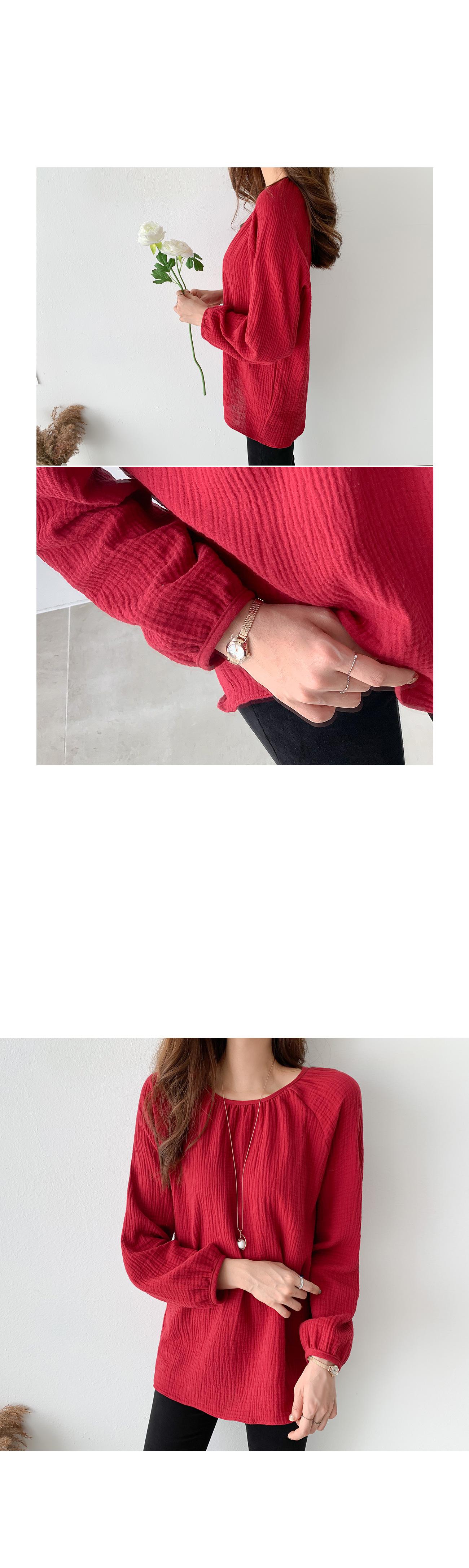Shirring neck feminine blouse #47636