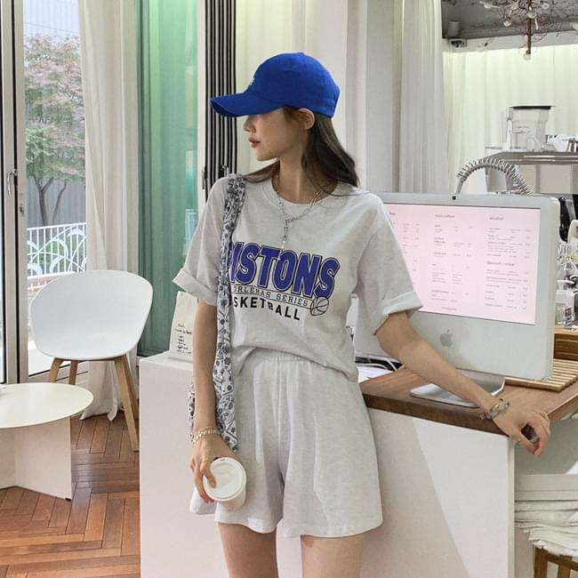 Gui casual casual top and bottom SET
