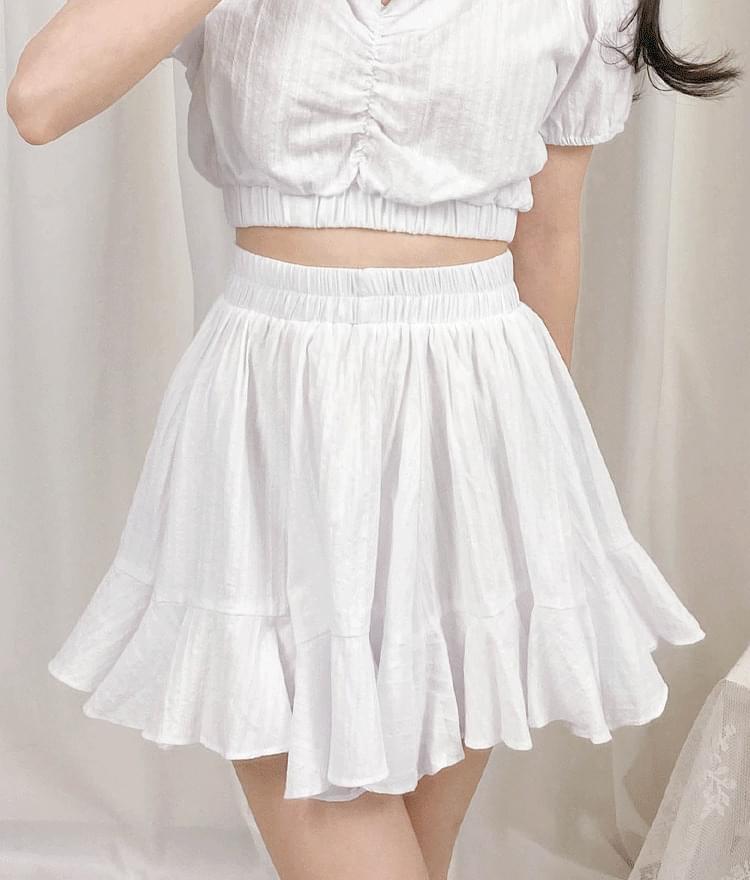 Hana flared skirt