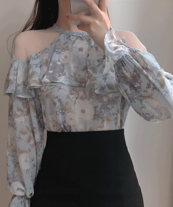 El Louis floral blouse