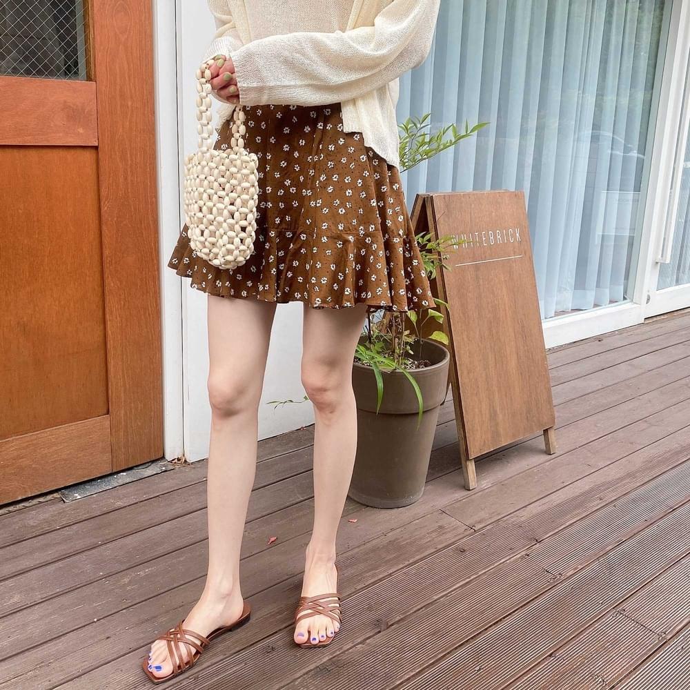 Elizan Flower Flare Skirt
