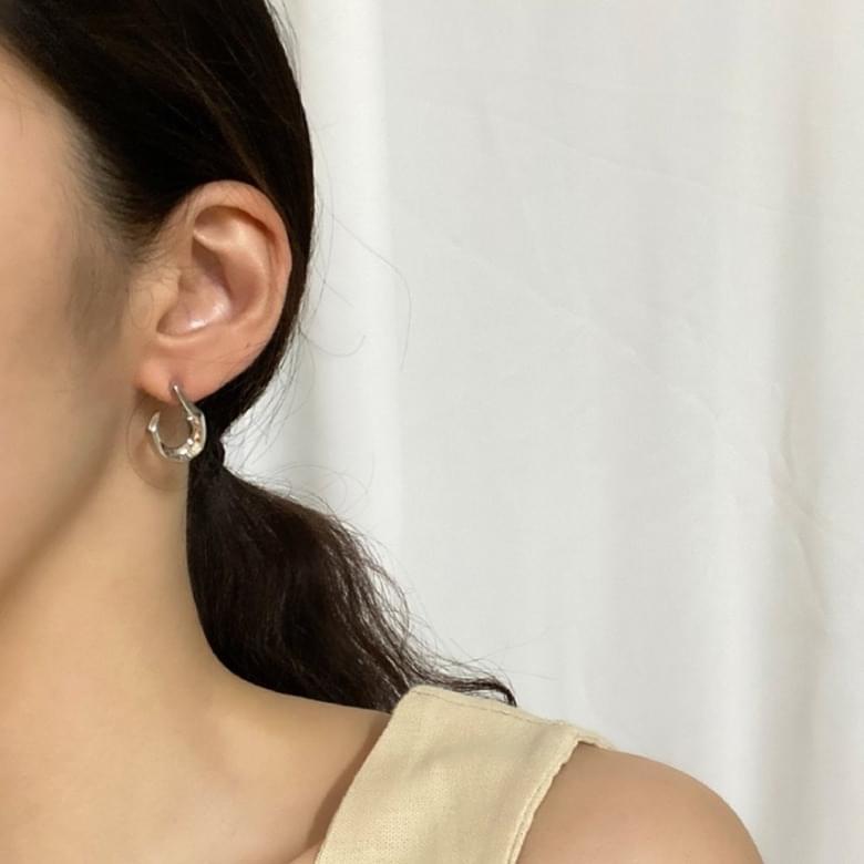 Neu Unique Ring Nickel Needle Earrings