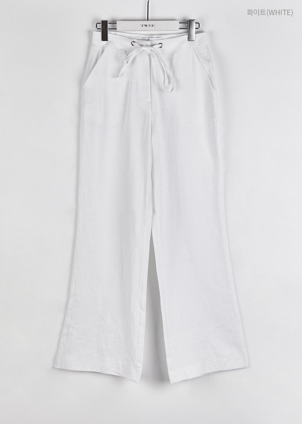 Linen string slacks