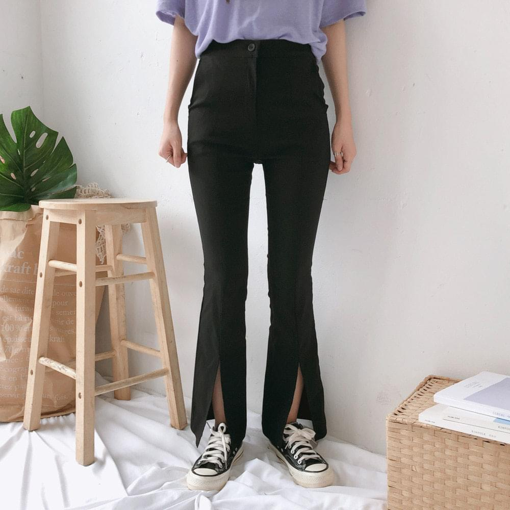 7001 Front open boot cut slim pants