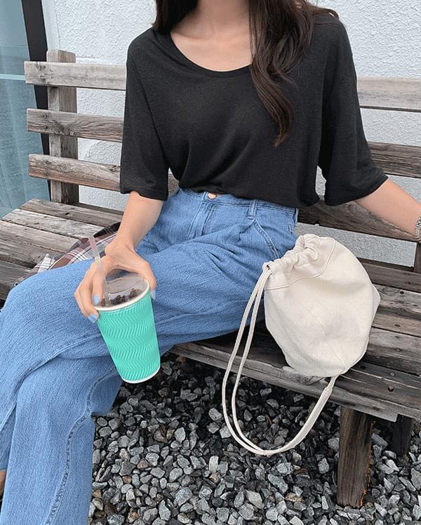 Summer cool basic linen t-shirt
