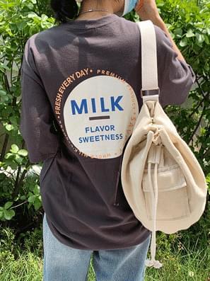 韓國空運 - Milk Box Round Short Sleeve Tee 短袖上衣