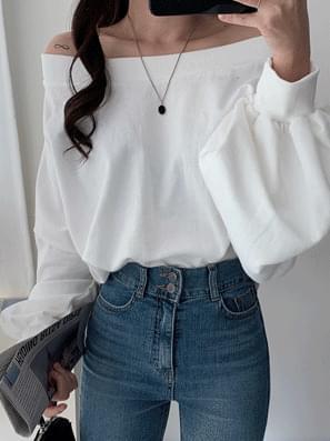韓國空運 - Muji Off Shoulder Sweatshirt 長袖上衣