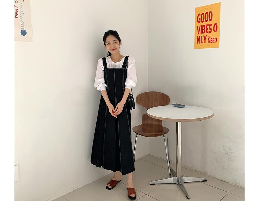 Bagel pleated long dress