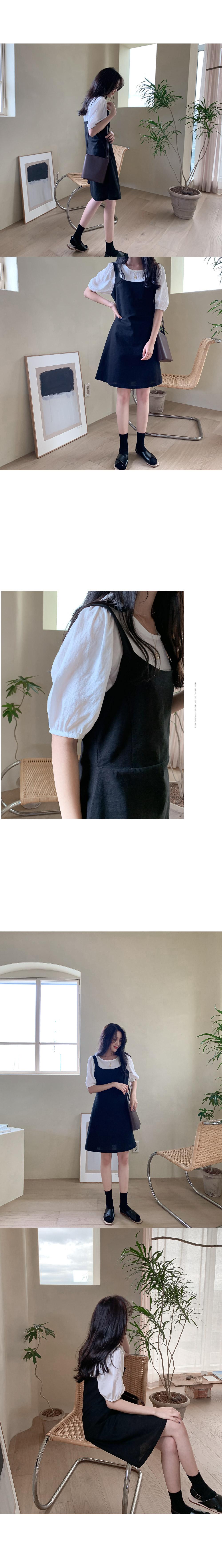 Mabi Linen Bustier Dress