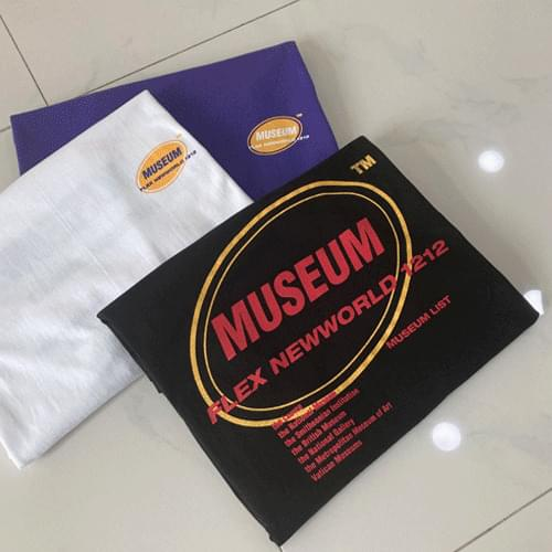 Round Neck Museum Short Sleeve T-Shirt T#YW656