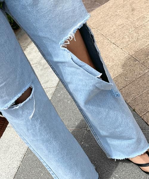 Light Blue pop Vintage wide jeans