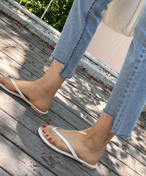 韓國空運 - Week hem square-cut slim date jeans 牛仔褲