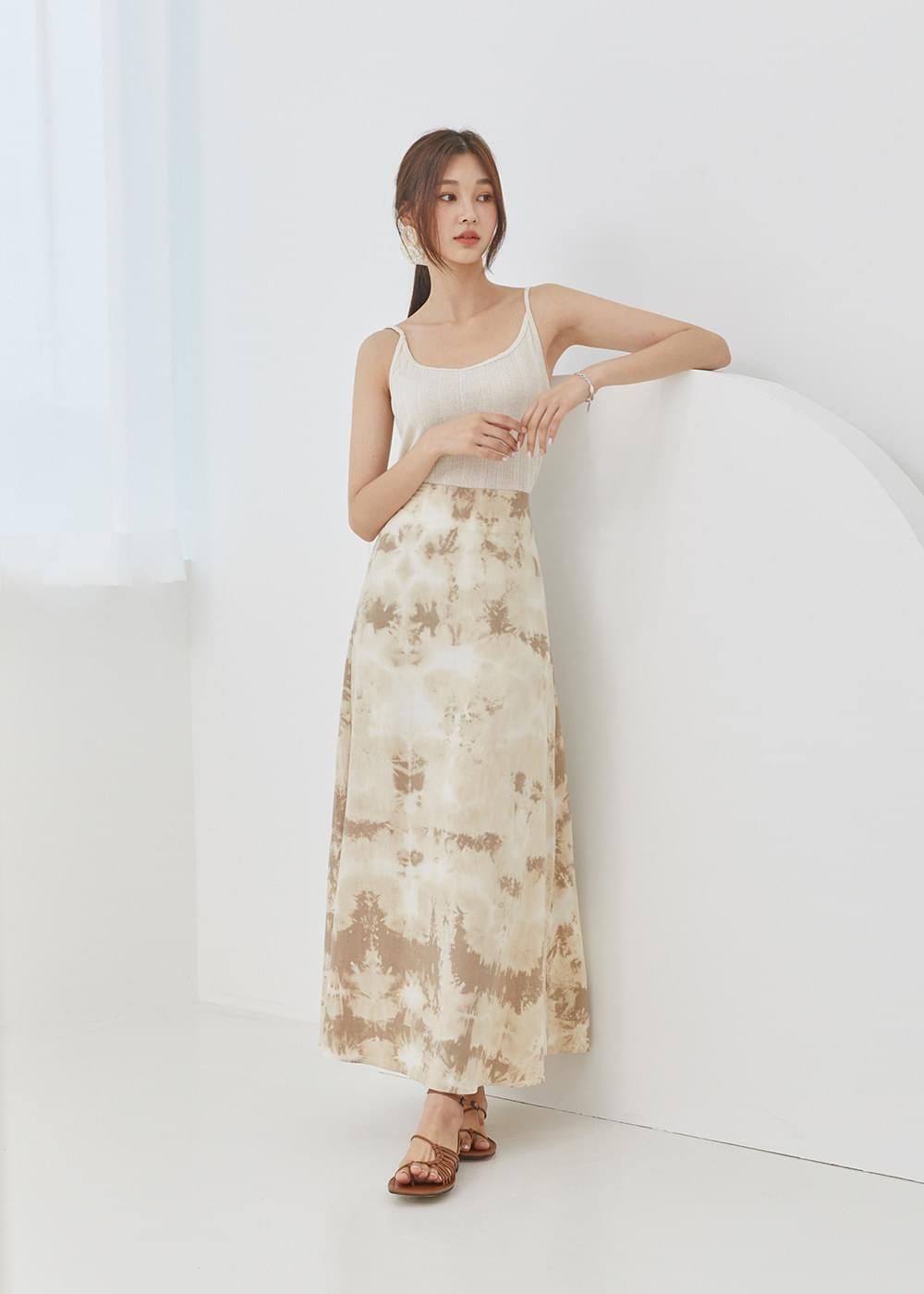 韓國空運 - Printing flare long skirt 裙子
