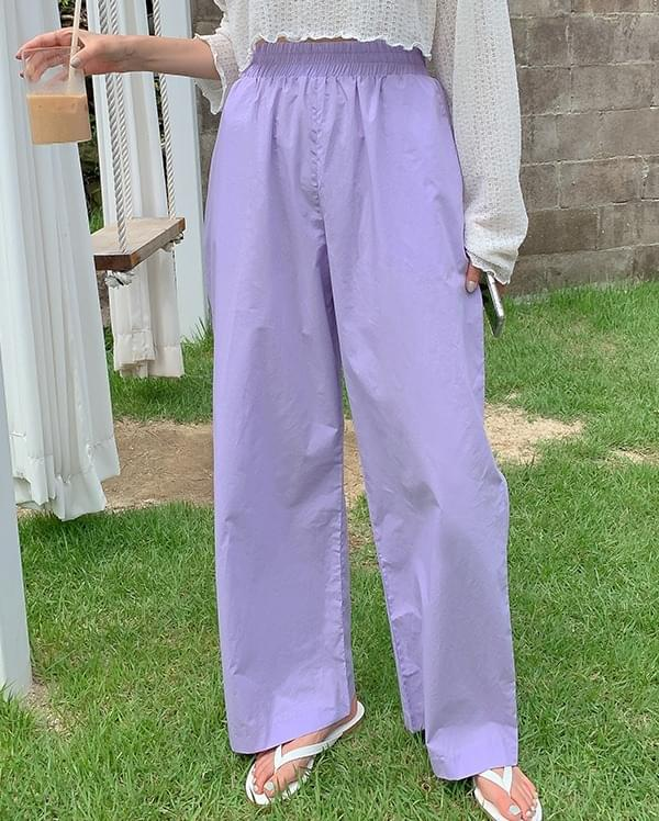 Record wide banding pants