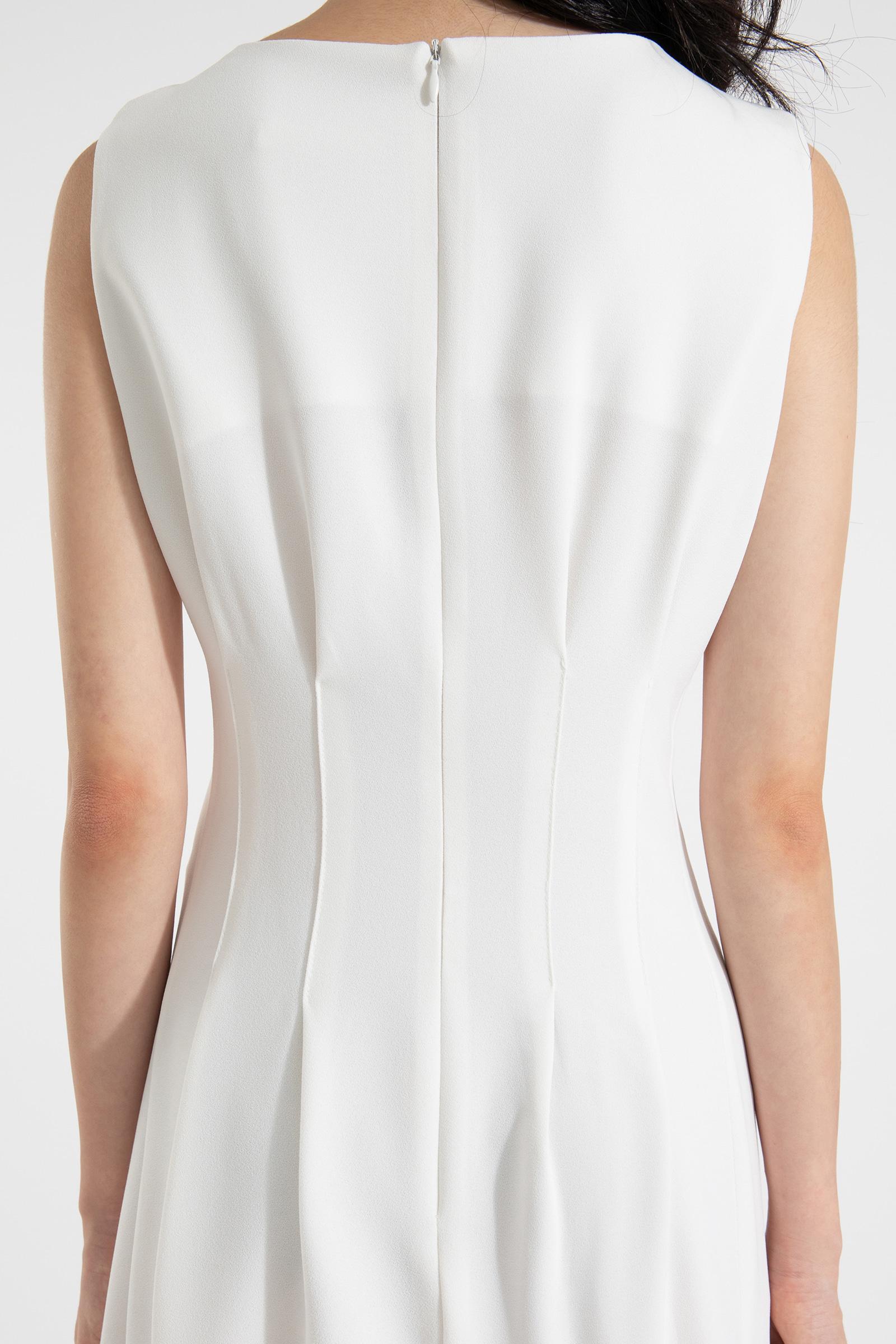 Cassia pintuck line midi dress