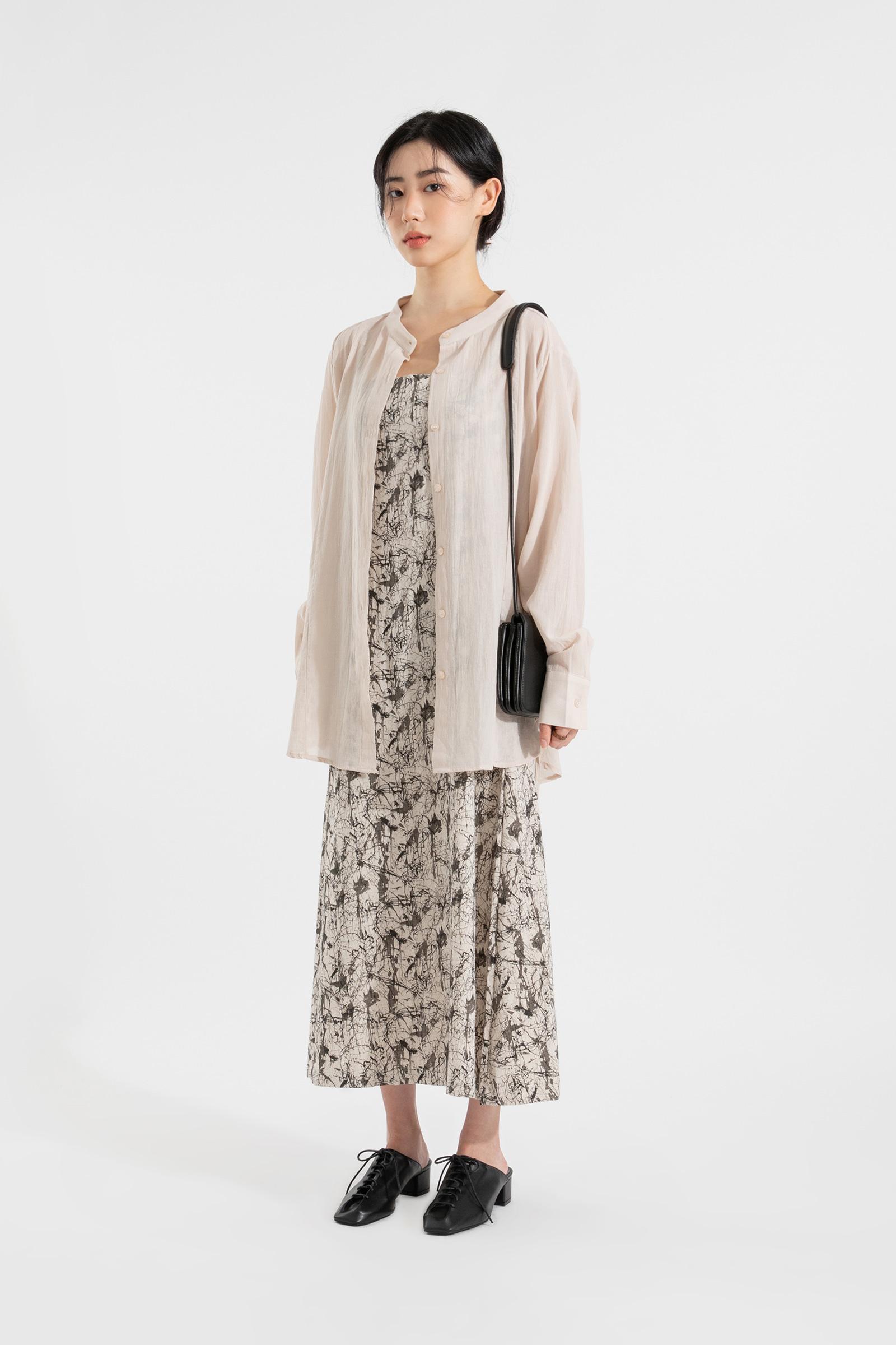 Glow pattern sleeveless maxi dress