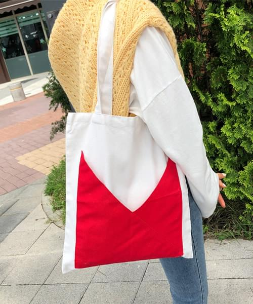 Red Confetti Point Eco Bag