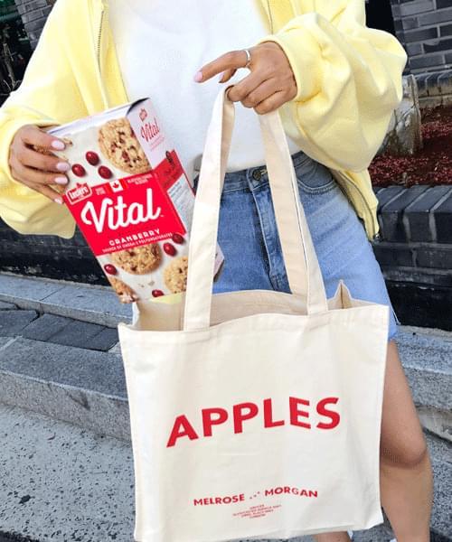 Apple Lettering Square Eco Bag