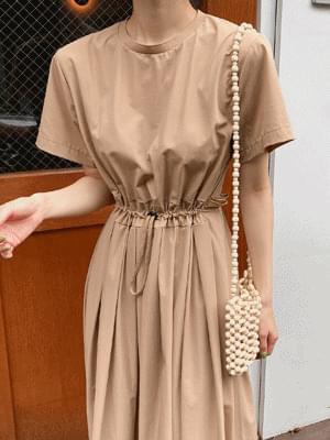 韓國空運 - Rail string dress 及膝洋裝