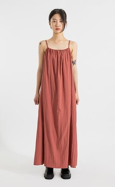 Crispy sleeveless maxi dress dresses