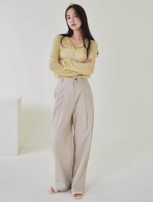 Karen pintuck pants