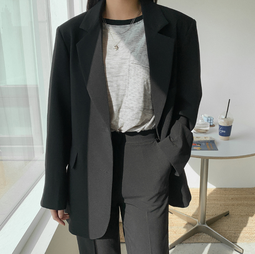 Daily two-button overfit jacket