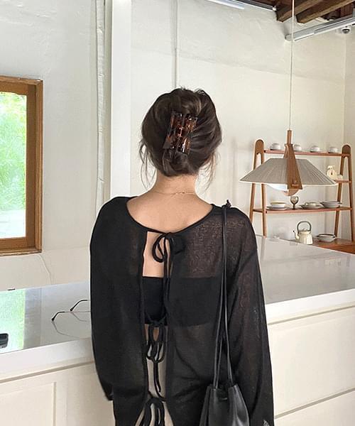 U-like bag ribbon knit