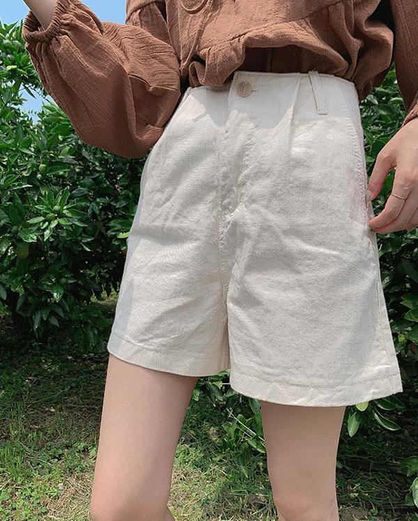 Miu Pin Tuck Half Pants