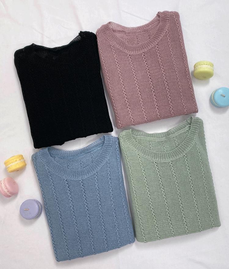 Rachel Short Sleeve Knit knitwears