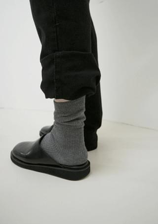 ribbed long ankle socks (10colors)