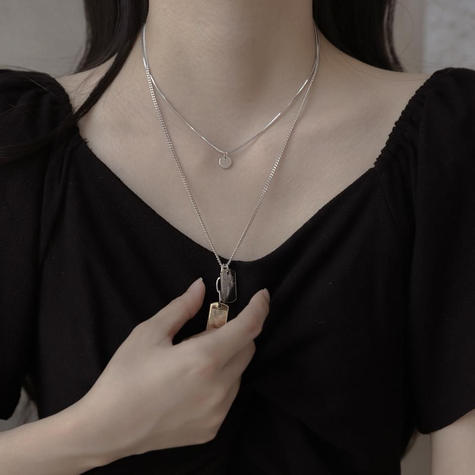 Name 2 SET layered necklace