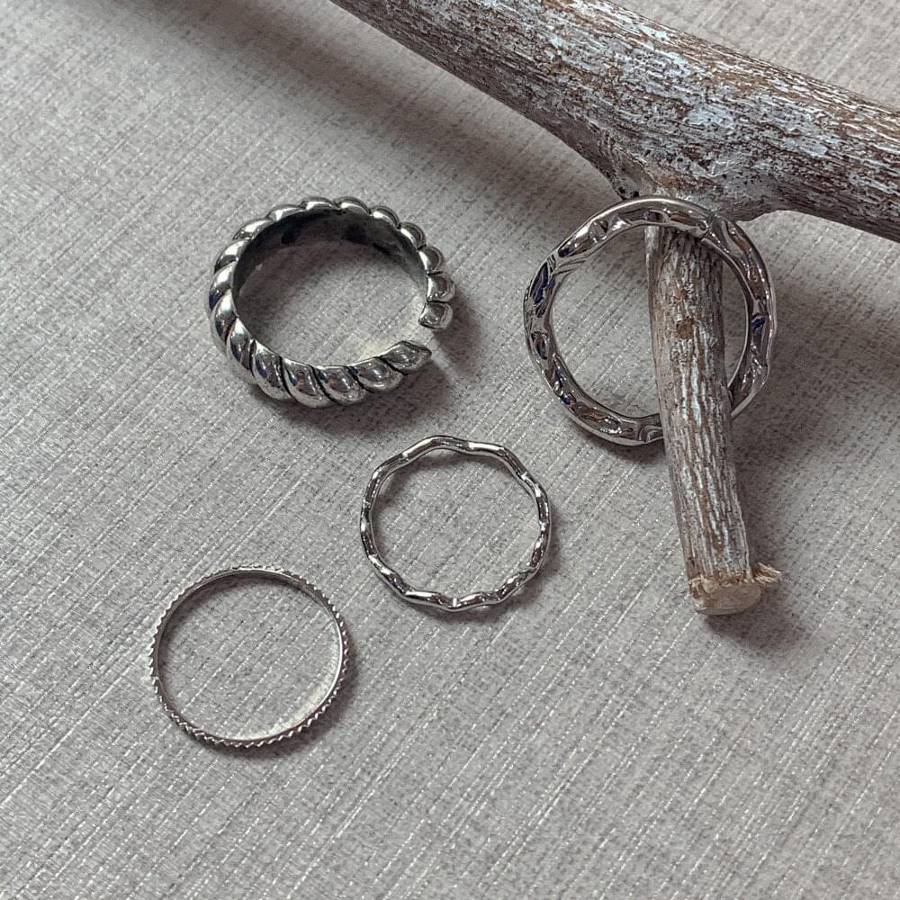 015 wavey ring set