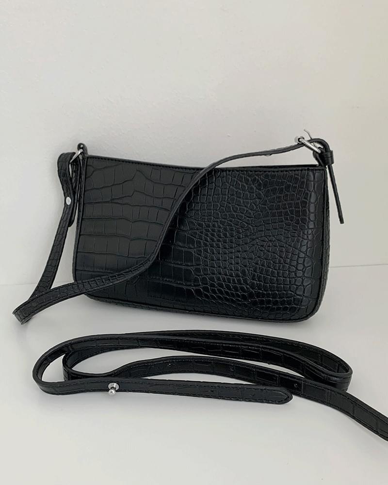Wani Crocodile Pattern Square Cross/Shoulder Bag