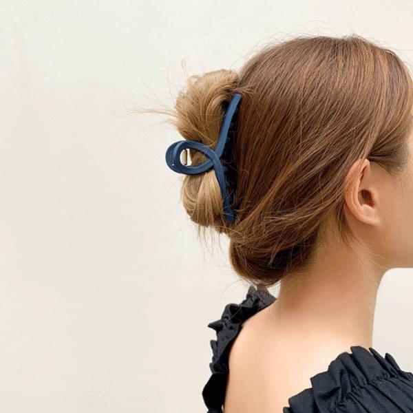 Matte twist vivid hair clip pin 6color