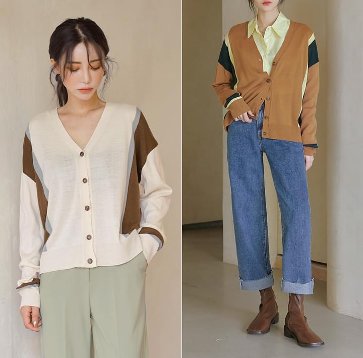 TIST COLORING KNIT CARDIGAN