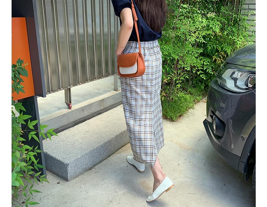 H-line slit long skirt_A