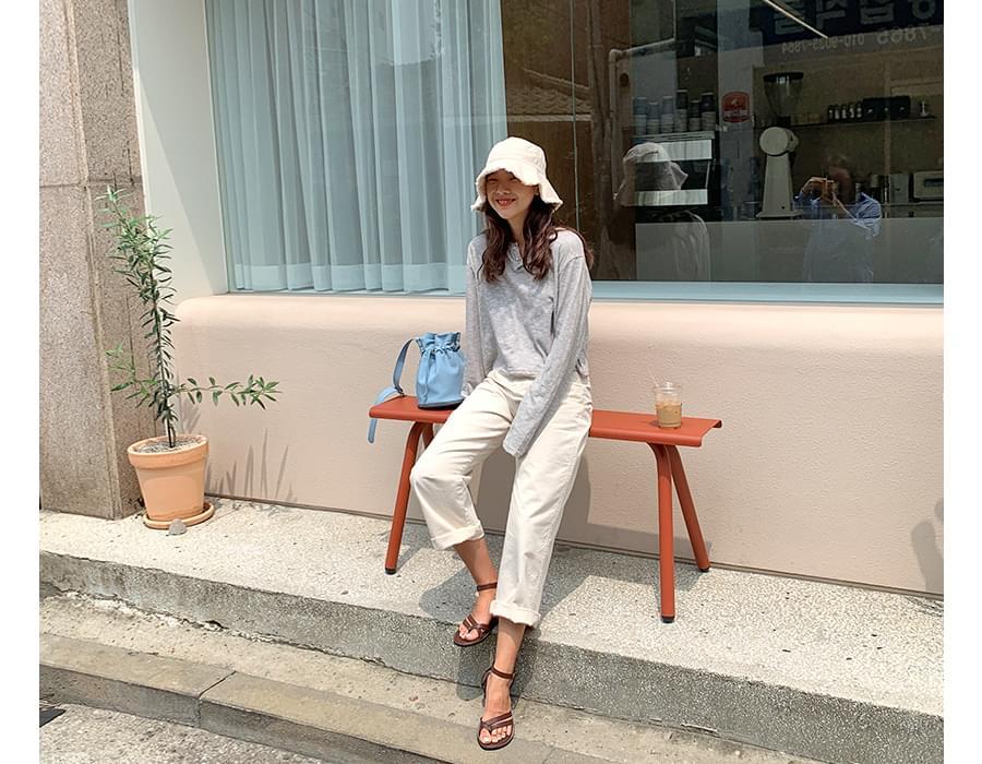 Main wide cotton pants_A