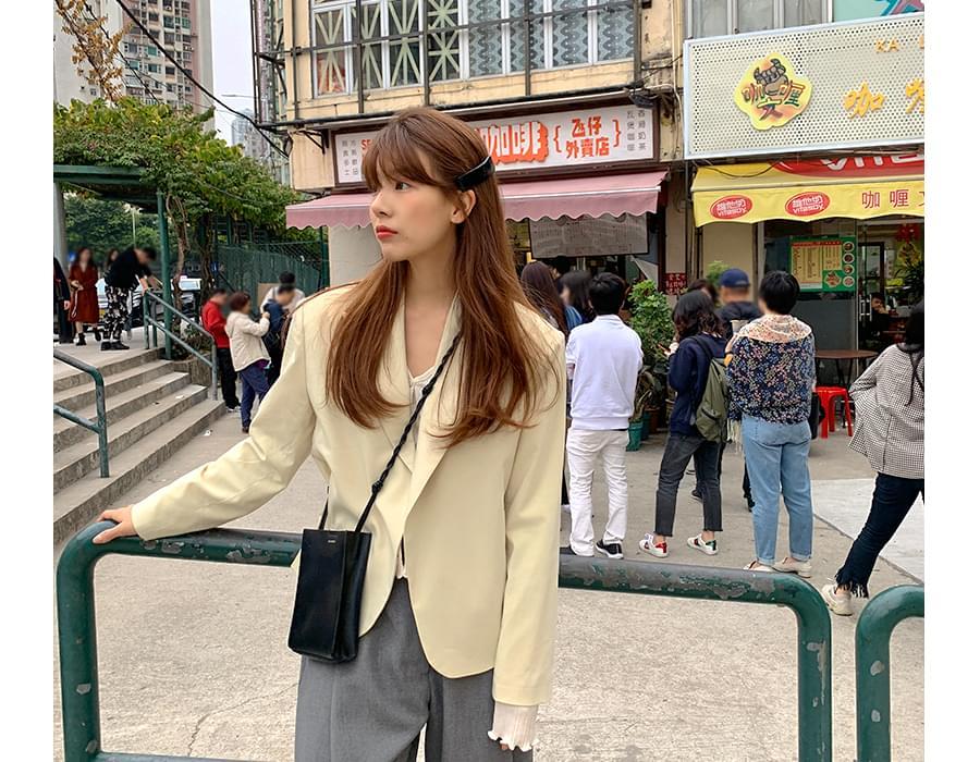 Cream open simple jacket_J