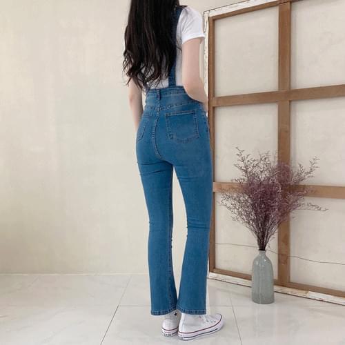 쫀쫀 boot cut suspenders P#YW507 長褲