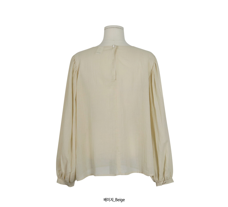Motto balloon round blouse_M (size : free)