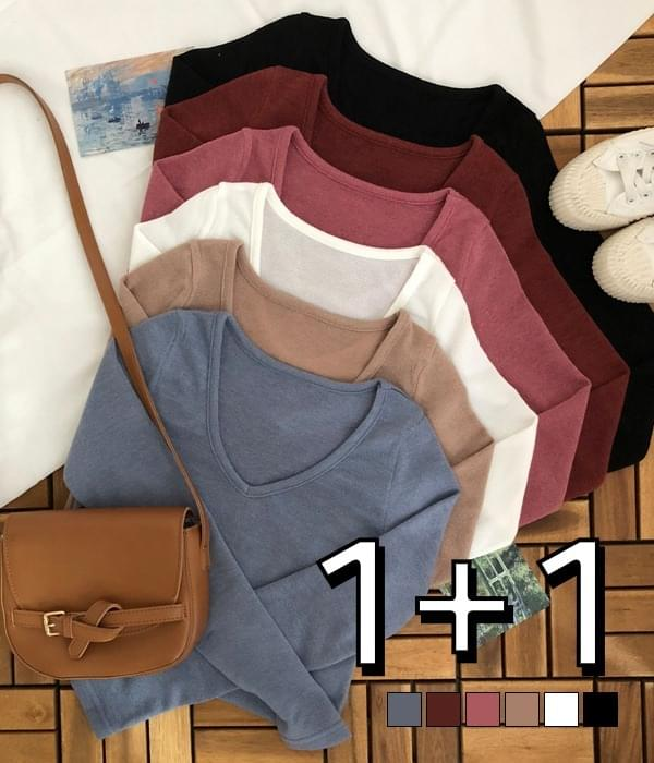 Manito mini V-neck knit T-shirt 針織衫