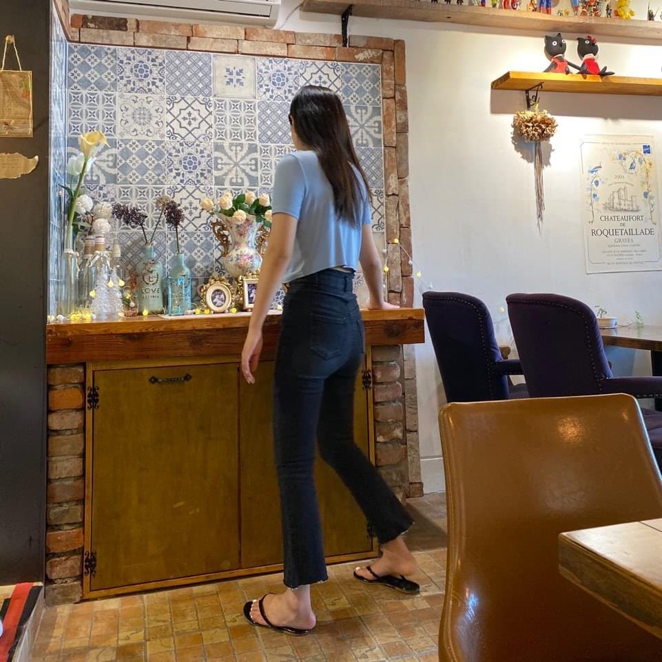High-up high waist bootcut