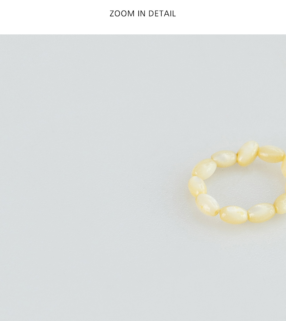 Trendy simple beads ring