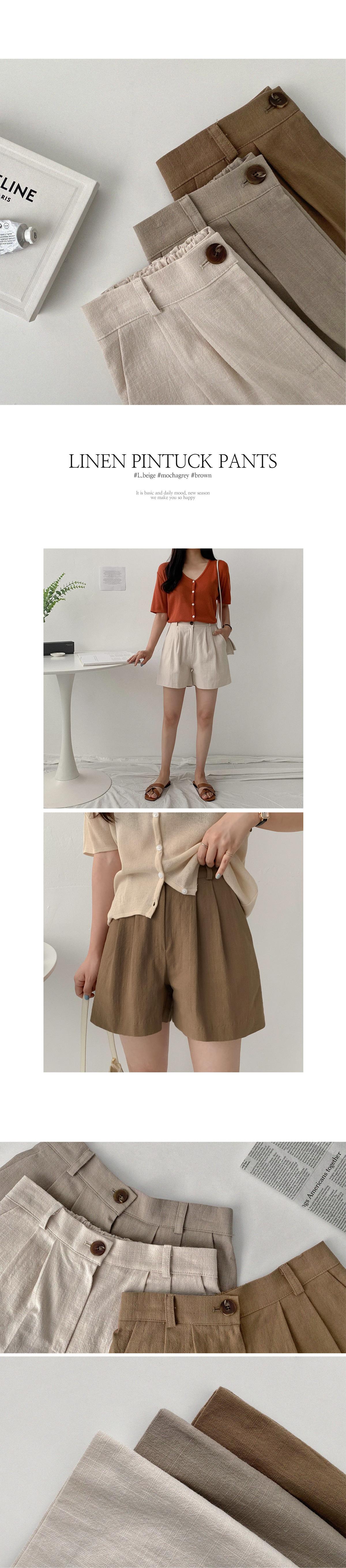 Goslin linen chin half shorts