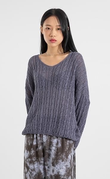 Days twist V-neck knit