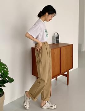 Noncoming Pintuck Banding Slacks pants
