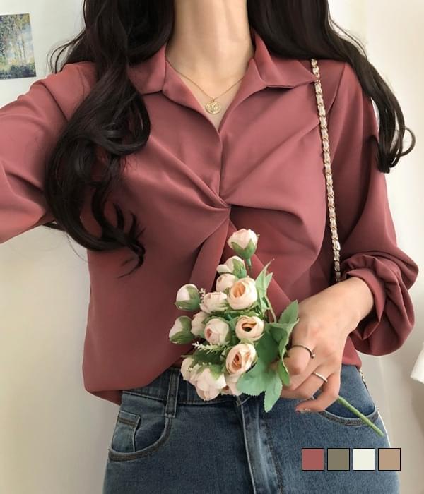 Diss collar twisted blouse 襯衫